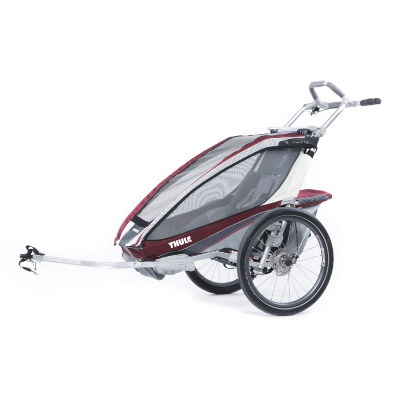 Universaalne spordikäru Thule Chariot CX 1, punane