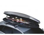 Suusahoidja Thule Box Ski Carrier katuseboksi laiusega 900 mm